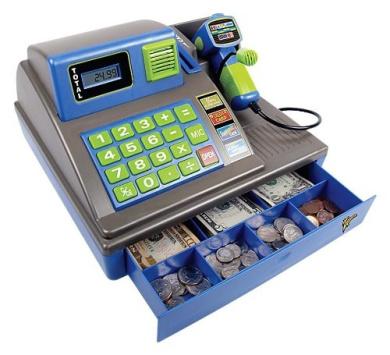 Zillionz Talking Cash Register Metallic