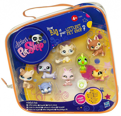 Hasbro Toys Littlest Pet Shop Series 1 Fluffy Catson 1-25 and Kitty Von Grey-cat 1-96 Mystery Pet