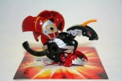 Bakugan Evolution Pyrus Red Black Silver Helios Mk2 540g Japanese Exclusive Loose Figure No Cards