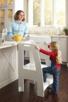 Holds Up To 90kg Guidecraft Kids Kitchen Helper Safety Tower Step Stool White By Guidecraft Shop Online For Toys In Fiji