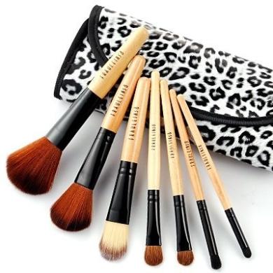 fräulein3°8 7 pcs wooden handle makeup brushes set w