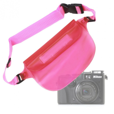 DURAGADGET All Purpose Pink Camcorder Waterproof Waist Bag//Dry Pouch for Sony Handycam PJ260 Full HD Camcorder Sony X280 Sony Handycam PJ200 Full HD Camcorder