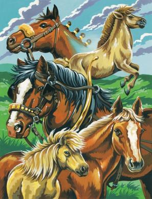 20cm by 25cm - Reeves Gold Scraperfoil Kit Horse Portrait Horse Portrait