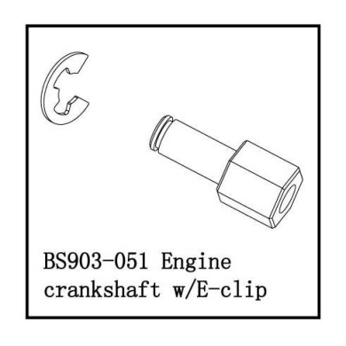 Redcat Racing BS903-050 Engine Flywheel W//Pin  BS903-050