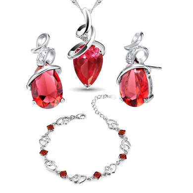 findout heart real 18k white gold Platinum plating silver Amethyst red yellow blue birthday stone Crystal Heart bracelet,for women girls. 1815