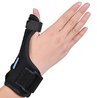 Fredericks Original Waterproof Gel Wrist Brace with Thumb Stabilizer Skiers Thumb 2 Pieces Small Spica Splint for for Gamekeepers Thumb TFCC Injury De Quervains Dr