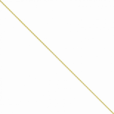 10 Mireval 10K Yellow Gold 2.0mm Faceted-Cut Extra-Lite Rope Chain Anklet