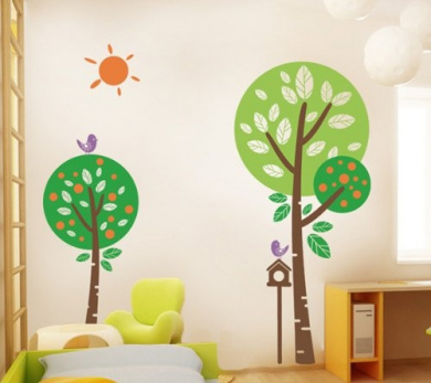 Pop Decors PT-0165-Vb Beautiful Wall Decal Cute Animals in The Jungle