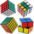 Idealgo set of 4 Cube Puzzle Bundle Pack 2x2x2 3x3x3 4x4x4 5x5x5 BLACK Cube Puzzle Educational Products shengshou Speed Cube Collection Great gift
