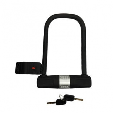 U-Lock Delaman Heavy Duty U-Shape Lock Glass Door Bike Bicycle Motorcycle Key Anti-Theft Locks