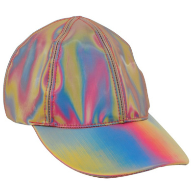 Mozlly Unisex Futuristic Rainbow Iridescent Reflective Baseball Snapback Cap