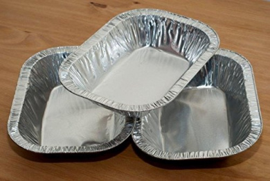 0.7LB -0.9kg Foil Pie Ashet Rectangle Aluminium Dish, Meat ...