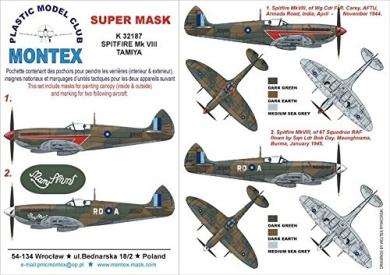 Montex Super Mask 1:48 P-51 B Mustang for Tamiya #7 Spraying Stencil #K48326