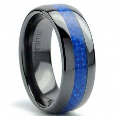 Titanium Ring Wedding Band Ultimate Metals Co Engagement Ring with Real Wood Inlay 8mm Comfort Fit