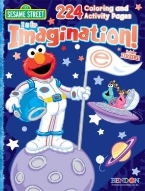 Sesame Street 43372 Bendon Create-a-Face Sticker Book