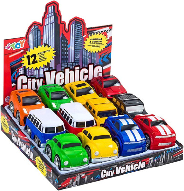 Globo 35584 WToy 9 Pieces Cars Pull Multi-Color