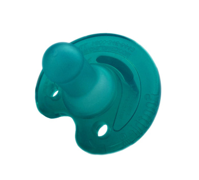 Notched Newborn Soothie Pacifier Green 0-3 Months Hospital Binky Natural