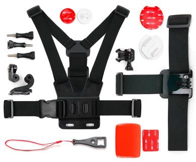 DURAGADGET Black /& Orange Shock-Absorbing /& Water-Resistant Carry Bag Compatible with MGCOOL Explorer 3