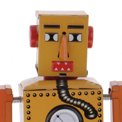 Jili Online Old-Fashioned Wind Up Walking Lilliput Robot Clockwork Tin Toys Gift Yellow