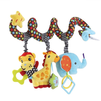 Cat Citmage Baby Crib Toys,Activities Spiral Plush Toys,Multi-Function Baby Games,Cute Kittens,Gutta Percha Ring Pendant Pendants Wrapped in Cribs,Trolleys,Car Seats