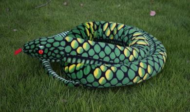 170cm Animal Planet 67 inch Soft Toys Extra Large Plush Yellow Snake Stuffed Animals
