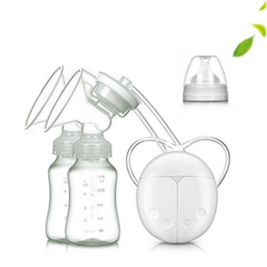 OMORC Breast Pump Comfortable Hand Silicone Pump with 2 Sucking Modes Manual Breastfeeding Pump with 160ml PPSU Milk Bottle