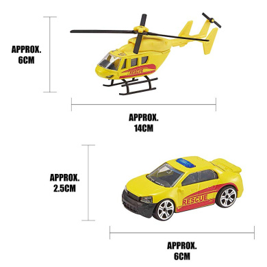 Teamsterz 7535-73614 Helicopter /& Car Toys Multicolour