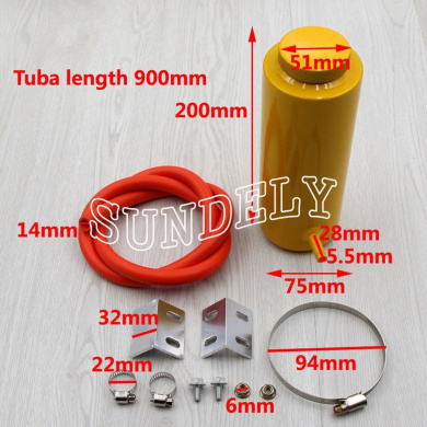 SUNDELY/® 800ml Red Overflow Catch Tank Radiator Coolant Expansion Tank Bottle Header