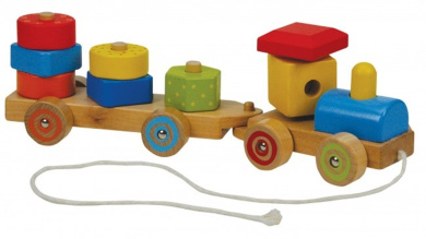 A B Gee 38006 Wooden Brick Truck Pull Along Toy