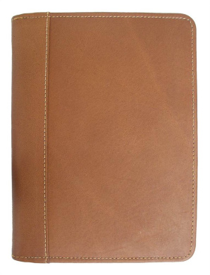 Chocolate 2472-CHC Piel Leather Laptop Office On Wheels