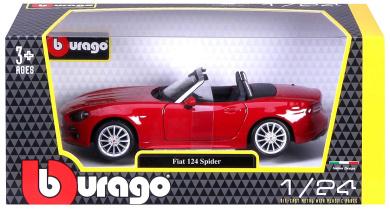 Fiat 124 Spider 2016 Red BURAGO 1:24 BU21083R Modellbau
