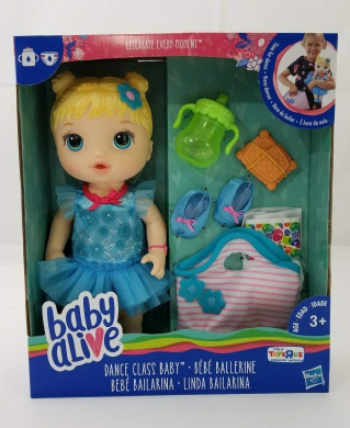 Drink Change and Go to Dancing Class BB Doll Wet Blond Hair Doll Darci Dancing Girl BB Baby Doll Alive