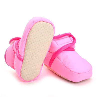 BESTOYARD Baby Boys Girls Boots Soft Sole Shoes Toddlers Winter Warm Shoes for Kids 6-12 Months Old Pink