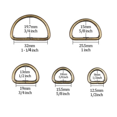 1 Inch 5//8 Inch 5//4 Inch Swpeet 150Pcs 1 25mm Multi-Purpose Metal D Ring Semi-Circular D Ring for Hardware Bags Ring Hand DIY Accessories 3//4 Inch 1//2 Inch 1 Inch