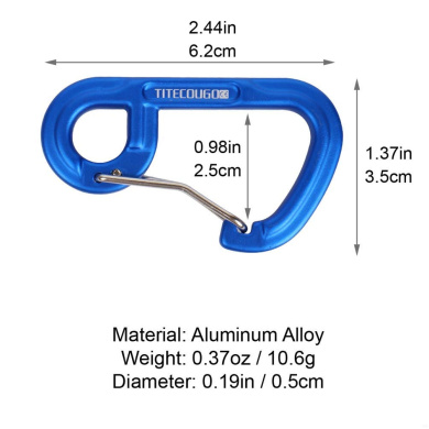 VGEBY 3 Colours Aluminum D-Ring Travel Bag Lock Luggage Security Combination Lock Carabiner Hook Padlock Outdoor Camping Equipment