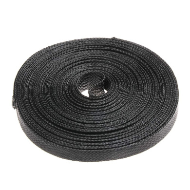 FemiaD 12mm PET Cable Wire Wrap Expandable Braided Sleeving Black 5M Length