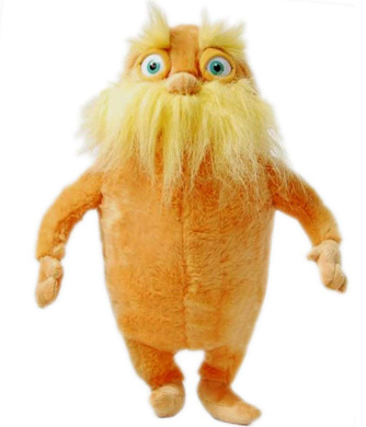 """Seuss The Lorax 20inches Lorax Plush Toy doll Large 20/"""" Dr"""
