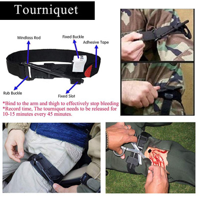 Amazmall First Aid Tourniquet Combat Application Medical Quick Release Buckle Emergency