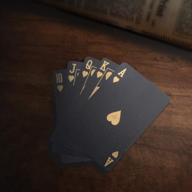 Waterproof Deck of Cards SolarMatrix Black Diamond Playing Cards Poker Cards Deck Novelty