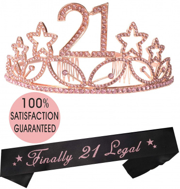 Finally 21 Satin Sash 21st Birthday Sash Drinking Age Birthday Party Favor FJ