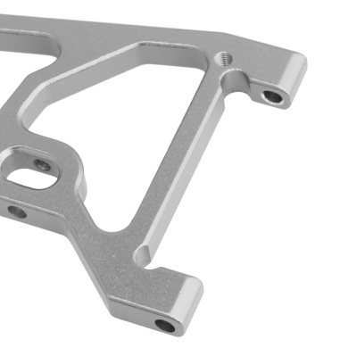 BQLZR RC1:10 Stainless Steel Silver Axle Lower Protect Skid Plate Bumper Guard Kit Set for Rock Crawler Traxxas TRX-4 TRX4