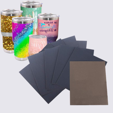 Crafts Tumbler Yaromo 12 Pieces Epoxy Sanding Papers with Magic Epoxy Brushes Epoxy Polishing Papers Superfine Epoxy Refinishing Papers for Making Glitter Tumbler Cups