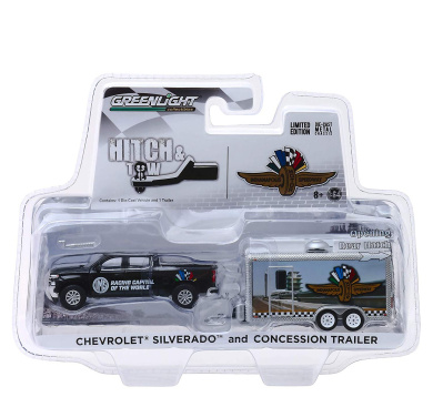 """LIVESTOCK TRAILER BLACK /""""HITCH /& TOW TRAILERS/"""" 1//64 DIECAST BY GREENLIGHT 51213"""