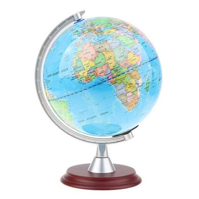 Blesiya Rotating World Earth Globe Map Kids Child Education Gift 14cm Blue