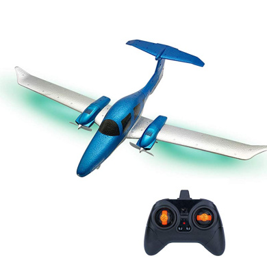 15 MINUTES Flying Time Aircraft With 550mm Wingspan With Light Bar DIY RC Airplane RTF Remote Control For Beginners Kids Gifts Prom-note RC Airplane 2.4G 3CH EPP Flying Toys,3.7V 300mAh 20C Battery