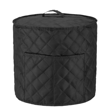 Black Luxja Dust Cover for Instant Pot Duo 6 Litre Cloth Cover with Pockets for Pressure King Pro 6 Litre and Extra Accessories