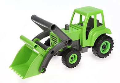 Lena 04452 TRUXX Front ca Toy Vehicle for Girls from 2 Years and Older in Pink and Lilac 34 cm Tractor with Excavator Shovel Play Figure