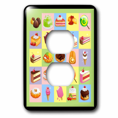 3dRose lsp/_43187/_6 Sweet Treats Outlet Cover