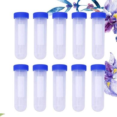 Healifty Transparent Needle Storage Tube Cross-Stitch Needle Bottle Sewing Needle Case 10 Pcs