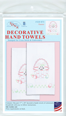 Free Delivery Tobin Stamped For Embroidery Kitchen Towels 50cm x 70cm 2//Pkg
